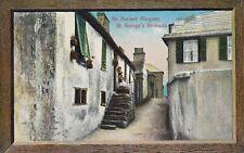 St.Georges,Bermuda,Ancient Alleyway,Picture Frame Border,c.1909