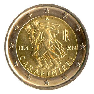 Sondermünzen Italien: 2 Euro Münze 2014 Carabinieri Sondermünze Gedenkmünze