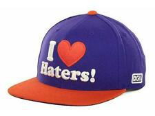 DGK Dirty Ghetto Kids Haters Snapback Mens Purple Orange Hat Wool Blend NWT