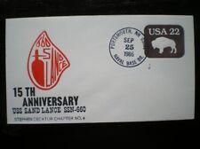 NAVAL COVER 1986 15TH ANNIV USS SAND LANCE SSN-660