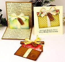 Sizzix Thinlits Gift Card Package 6pk #662417 MSRP $29.99 designer Tim Holtz