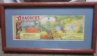 Vintage Advertising G. Peacock's Factories Hobart Sydney Apricot Jam Framed Art