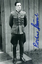 ROCHUS MISCH Signed Photograph - Adolf Hitler's Bodyguard / Courier - preprint