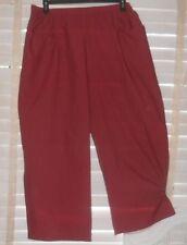 NWOT Lilith France ~Art to Wear~ Lightweight Wide Leg Cranberry Stripe Pant ~ LL