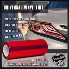 "2X Red Protective Vinyl Film Tint Headlight Taillight Fog Wrap 12""x24"" In 1x2 FT"