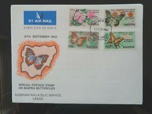 NIGERIA 1982 NIGERIAN BUTTERFLIES 4v FIRST DAY COVER SG438-441 VGC