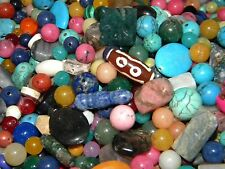 NEW 6/oz Multi-MIX 6mm-20mm MIXED LOOSE BEADS LOT Gem, Semi-precious MX1