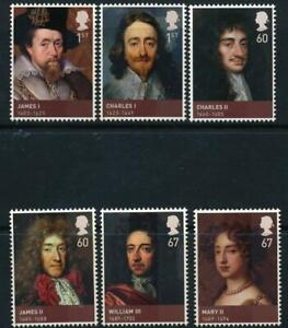 GB 2010 Kings and Queens SG 3087-3093 MNH