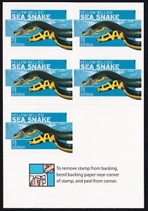 2006 Dangerous Australians. Sea Snake Booklet. S/A Set of 5 UNFOLDED MINT