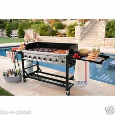NEW 8 Stainless Steel Burner Commercial BBQ Event Propane Gas Grill 116,000 BTU