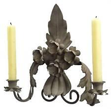 bougeoir chandelier applique murale a bougie en metal fer lampe lustre bougie