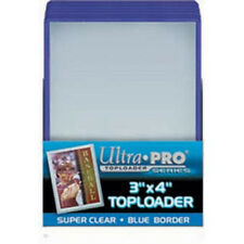 75 Ultra Pro Blue Border toploader 3x4 Toploaders  Brand New