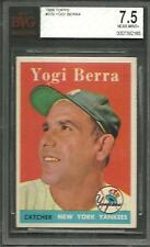 1958 TOPPS #370 YOGI BERRA BVG 7.5 NM+ HOF MVP NEW YORK YANKEES NICE CARD RIP