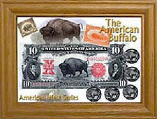 5x7 American Buffalo, American West Series Solid Oak Coin Frame
