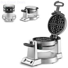 Pro Double Belgian Waffle Maker Iron Gourmet Baker Breakfast Commercial Genuine