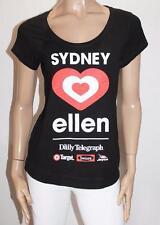 TARGET Brand Black Sydney Ellen Short Sleeve Tee Size 14-L BNWT #SF29