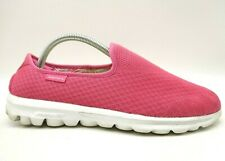 Skechers Go Walk Hot Pink Mesh Casual Slip On Comfort Loafers Shoes Women's 10