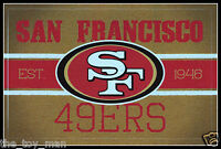 SAN FRANCISCO 49ERS VINTAGE TEAM LOGO FOOTBALL NFL DECAL STICKER~BOGO 25% OFF