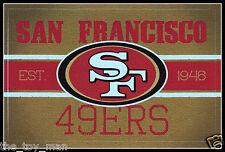 SAN FRANCISCO 49ERS FOOTBALL NFL LICENSED VINTAGE TEAM LOGO INDOOR DECAL STICKER