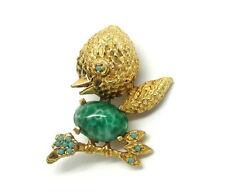 VTG VOGUE JLRY Tweety Bird Murano Peking Art Glass Egg Belly Jewelry Brooch Pin