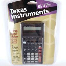 Vintage Texas Instruments BA II Plus Advanced Financial Calculator 1997 New