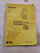 Topcon Gts-230W Surveying and Construction Electronic Total Station inst Manual
