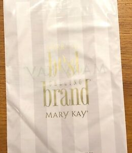Mary Kay Lot of 65 Small Product Merchandise Gift Bags Pink Striped Plastic