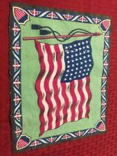 Vintage Large Felt Us Flag Tobacco Premium 48 Stars 1918