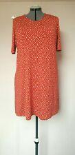 M&S Marks and Spencer Size 18 Orange & White Polka Dot T-Shirt Loungewear Dress