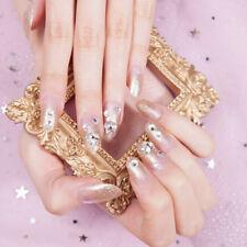 24*Champagne weddingfalse fake artificial toe nails tips nail art bride Hf Eps!