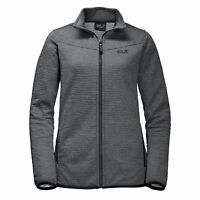 Jack Wolfskin Mens Tongari Jacket Zip Up Track Top Grey 1704941 6350