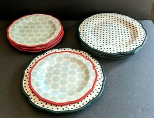 """Pioneer Woman Set of 8 Dinnerware Plate From My Frontier To Yours 4-10.5"""" 4-8.5"""""""