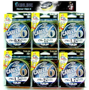 SUNLINE CAREER HIGH PE6 170m.NEW Japan Six Braided Fishing Line,Special Sea Bass