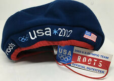 ROOTS Blue Vintage Drawstring Hat USA 2002 US Olympic Team Official Outfitter
