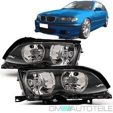 BMW E46 Limousine Touring Scheinwerfer SET Facelift 01-05 Klarglas Schwarz H7/H7