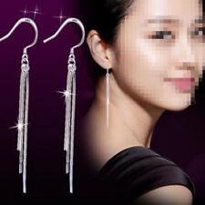 HOT Women's Fashion Jewelry Silver Plated Long Hook Tassels Drop Dangle Earrings