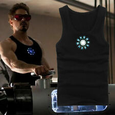 Iron Man3 Tony Stark Arc Reactor Luminous Cosplay Tops Vest T-Shirt 3 Styles!OI
