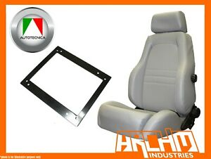 AUTOTECNICA ADVENTURER SEAT LEATHER GREY LANDCRUISER 75 - 79 UTE LEFT ADAPTOR