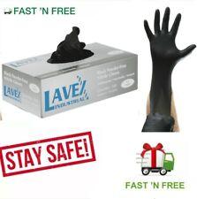 Nitrile Gloves 100pcs Black Powder Free Heavy Duty Large Size 5 Mil Thick