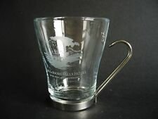 Modern Glass Coffee Cup Mug Derwentwater Lake District Souvenir Metal Handle