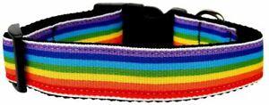 Rainbow Striped Nylon Collars Rainbow Stripes