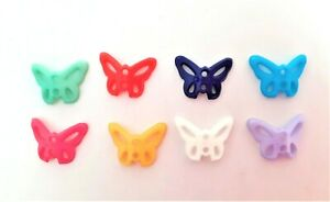 50 Little butterfly craft / baby fun buttons Choice of cols 15mm