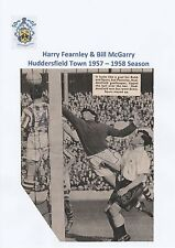 H FEARNLEY/B McGARRY HUDDERSFIELD TOWN 1957-58 RARE ORIG SIGNED MAGAZINE CUTTING