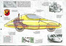 Fiat Abarth 500/ 600 D 1000  Pininfarina Italie Italy 1962 Car Auto FICHE FRANCE