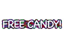 FREE CANDY! (Novelty Van Bumper Sticker)