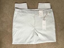 MARKS AND SPENCER PER UNA CREAM TAPERED LEG TROUSERS SIZE 18 BRAND NEW