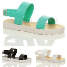 Damen-Sandalen aus Gummi mit kleinem Absatz (kleiner als 3 cm)