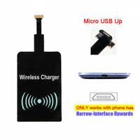 Qi Wireless Charger Receiver Cordless Power for UP Micro USB Cell Phone Samsung