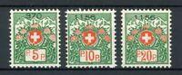 Schweiz Portofreiheitsmarken MiNr. 11-13 I x postfrisch MNH (W594