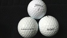 """10 TITLEIST  """"PRO V1X"""" - """"X-OUT"""" - PRINTED ON BALL - ANY MODEL - """"PEARL"""" Grade."""